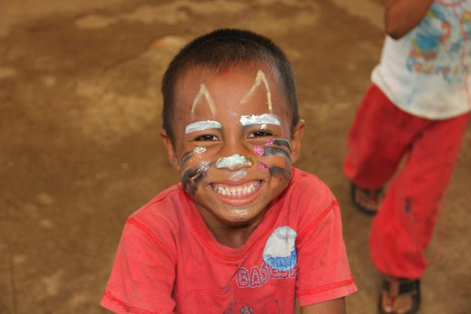 A kid during a workshop in Alamikangban, RAAN